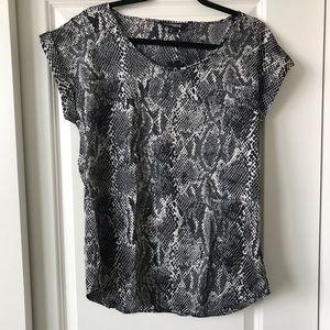 Express python snake chiffon top blouse medium